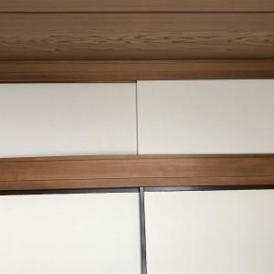 アイロン襖紙で押入れの天袋の襖紙を貼り替える